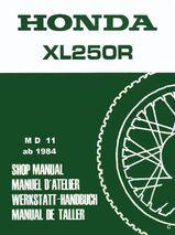 Werkstatthandbuch  Honda XL 250 R (MD 11) von 1984