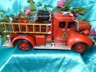 Nostalgie Blech Auto, Blechmodell Feuerwehr 33 cm / Oldtimer, Geschenkidee NEU - Zeuthen