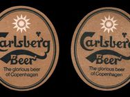 Carlsberg Beer -  The glorious beer of Copenhagen Bierdeckel goldfarben oval BD - Nürnberg