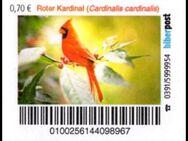 "Biberpost: ""Vögel: Roter Kardinal"", Satz, postfrisch - Brandenburg (Havel)"