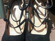Pumps/High Heels, neu u. ungetragen, mit Schnürung und 10 cm Absatz, schwarz, Gr. 38 - Berlin Charlottenburg-Wilmersdorf