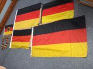 Deutschland Fahnen und Fan Artikel im Set. Maße siehe Fotos