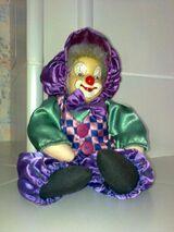 Porzellanpuppe Clown – handgearbeitet - neu