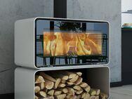 Lotus Living Cube Designer Kaminofen mit 7 kW und ext Luftzufuhr