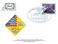 """PIN Berlin AG: MiNr. UE 13, 11.11.2004, """"BBI Berlin 2004"""", Ganzsache (Umschlag), Sonderstempel """"15 Jahre Fall der Berliner Mauer"""" - Brandenburg (Havel)"""