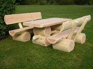 Holzgarnitur Sitzgruppe Holzgarnituren Rustikal Massiv Gartenbank Sitzbank - Wadern