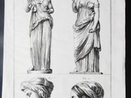 Kupferstich von Antonio Baratti. Darstellung von vier römischen Frauengestalten, um 1763 - Königsbach-Stein