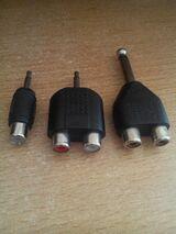5 x Stück Deetech Y-Adapter 2 x Cinch Buchse 3 x Klinke 3,5 mm Stereo+6,3 mm