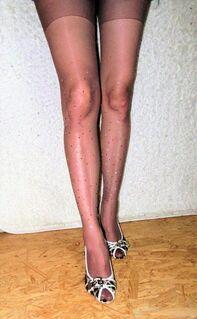 Damen Strumpfhose, Strasssteine, Edel - München