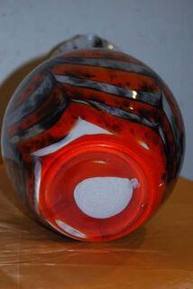 Murano Glaskaraffe in Rot und Schwarz / Saftkrug / Glaskanne - Zeuthen
