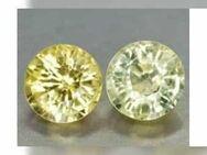 0,81 ct , schöne gelbe Golden Yellow Saphire , RD Fac. ( 2 Stück ) - Neubrandenburg