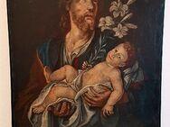 18./19. Ölgemälde Heiliger Josef m Knabe Jesus Kirche Kapelle Altar Kloster - Nürnberg
