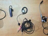 4 x Stück Bluetooth Headsets Motorola, Jabra, Logitech, Hi-Tex