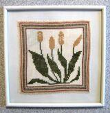 2 Stickbilder, Handarbeit, Stickerei, Blume, neu