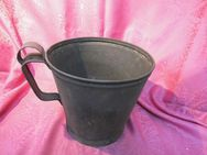 Antiker Stahleimer verzinkt um 1910 / Eimer ca. 6 Liter mit originellem Henkel - Zeuthen