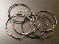 3 Paare Ohrringe Creolen schwarz, grau, silber - Dortmund