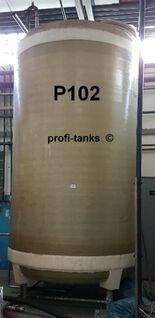 P102 gebrauchter 10.000 L Polyestertank GFK-Tank vertikal stehend Wassertank Rapsöltank Regenauffangtank Flüssigfuttertank Molketank Zisterne