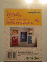 Wanddisplay Einzelblatt DIN A 5 Hochformat