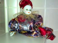 Porzellanpuppe Harlekin – handgearbeitet - neu - Burgwald