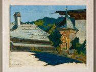 Schönes Gemälde v. HANS W. SCHMIDT (1922 Ddf.), Mittag in Maria Alm 1970! - Berlin