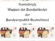 """Numisbriefe """"Wappen der Bundesländer"""" mit 1 DM Münzen vergoldet. (627) - Hamburg"""