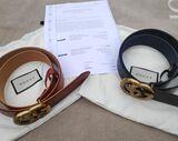 1 x Gürtel Gucci GG Schnalle Ledergürtel Gürtel Unisex Belt