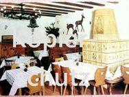 alte Ansichtskarte des Jägerstübchens im Kurhaus Allerheiligen - Niederfischbach