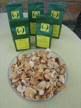 getrocknete Apfelstücke, Naturkost aus dem Naturpark Hoher Fläming
