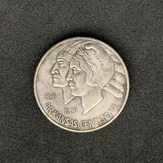 USA Half Dollar 1935 Arkansas,Feinsilber 900er,Lot 761 - Reinheim