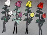 Fensterbild (Handarbeit) aus Glas, Rose verschiedene Ausführungen - Krefeld