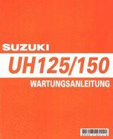 Wartungsanleitung (Werkstatthandbuch) SUZUKI UH 125 Vergaser in deutsch !