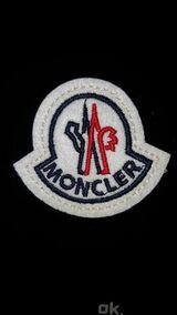 Moncler Patch Aufnäher Abzeichen Logo Mütze Jacke Abzeichen Rund Stepp 4,5 x 5,0 cm
