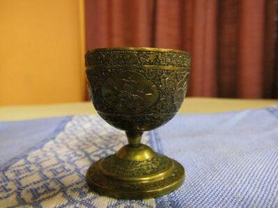 Antiker Eierbecher aus dem Nahen Osten, wahrscheinlich Persien um 1930 / Messing - Zeuthen