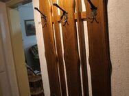 Garderobe Vollholz rustikal 6 Mehrfach-Haken 1,26m x 0,73m - Bad Belzig
