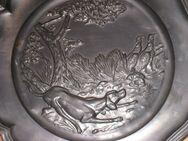 Zinnteller, Motiv Hund Natur, Durchmesser, 23 cm, Ausstellungsstück - Sehnde