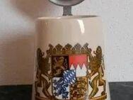 Bierkrug Krug Bayern mit Deckel - Regenstauf