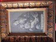 Antikes Webbild Seide ? Madonna mit Kind von 1894 hinter Glas - Bad Neuenahr-Ahrweiler Zentrum