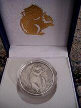Erdhörnchen  5 Dollarmünze, Palau