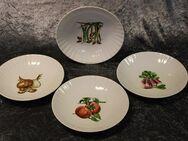 Vier Wunsiedel Porzellan Suppenteller / Bavaria / Gemüsemotiv / Selten / Vintage - Zeuthen