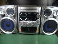 Vintage Silver Boombox Panasonic SA-AK320, 5-Disc MP3/ CD - Oberhaching