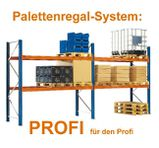 Palettenregal - Hochregal System PROFI - NEU - Schwerlastregal