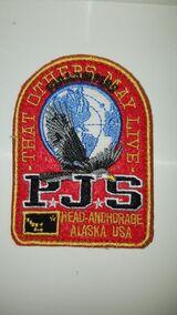 Rot Parajumpers PJS Patch Aufnäher Mantel Jacke Long Klett Logo Emblem