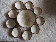 Keramikschüssel mit 8 passenden Fondueschälchen - Bochum