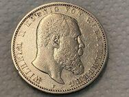 5 Mark Kaiserreich Württemberg,Wilhelm II. 1892-A,Lot 885 - Reinheim