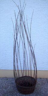 Korb für Dekoration Höhe ca.1,30m Durchmesser ca.33cm/15,5cm