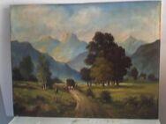 Wandbild, Landschafts-Darstellung, von 1940, 70 x 55 cm - Simbach (Inn) Zentrum