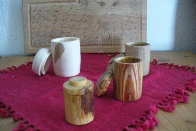 Holzdosen mit Deckel - Aßlar