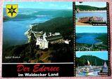 Ansichtskarte Edersee mit Blick auf Schloß Waldeck