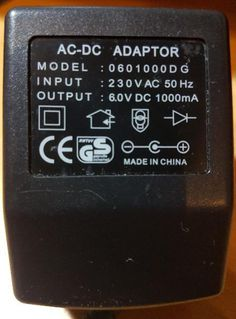 Adaptor 230 V / 6.0 V DC 1000 mA mit 3,5 mm Klinkenstecker Ladeadapter - Verden (Aller)