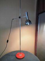 Schöne alte Stehlampe um 1975 / verchromte Leselampe / Retro Handarbeitslampe